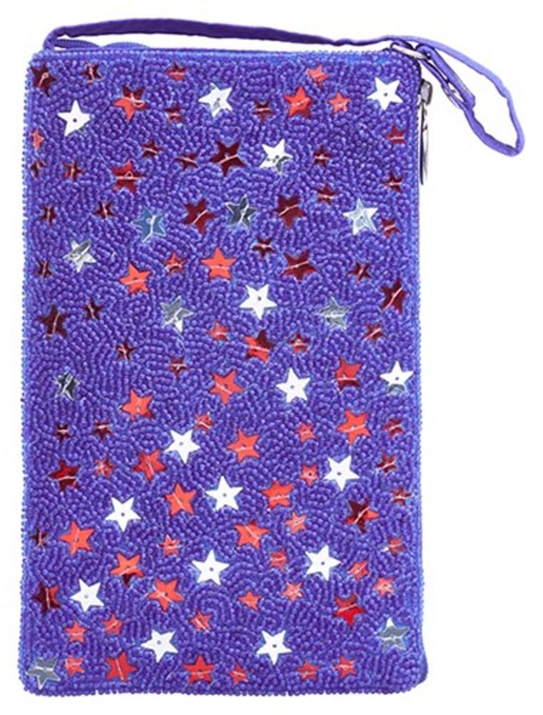 Bamboo Trading Company Cell Phone Club Bag, Gleaming Stars