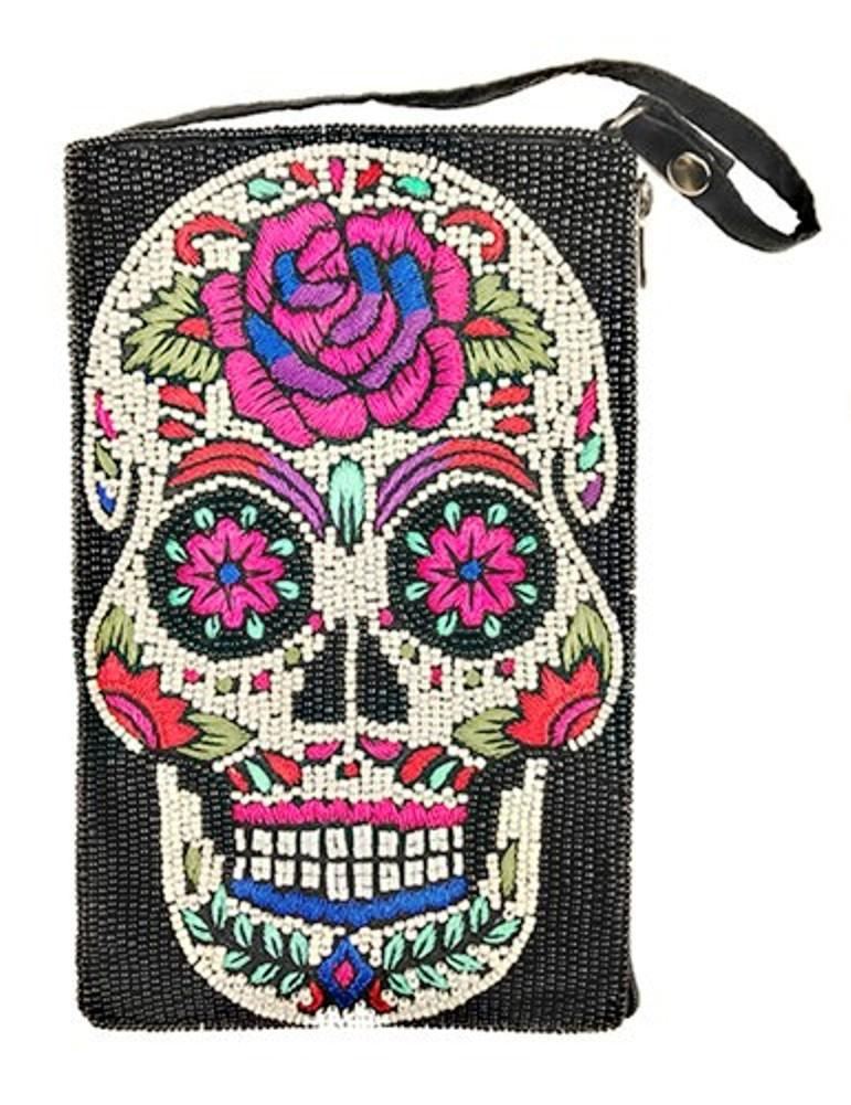 Bamboo Trading Company Cell Phone Club Bag, Sugar Skull