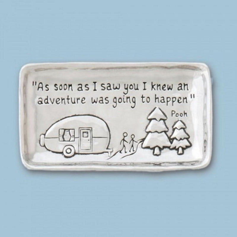 Basic Spirit Pewter Camper Small Tray, Made in Nova Scotia - Gifts From A Distance