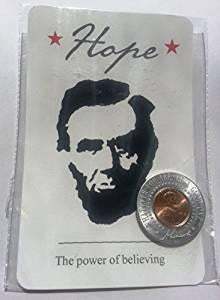 Abe Lincoln Penny Magnet with Postcard (Hope)
