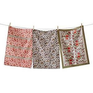 Cotton Imari Dish Towel Set of 3