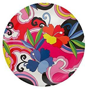 "Groovy Melamine 8"" plate, Set of 4 by Two Lumps of Sugar"