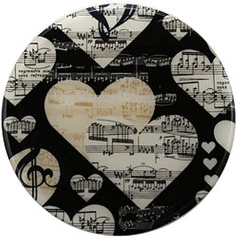 Andreas Silicone Round Trivet, I Luv Music, Made in the USA