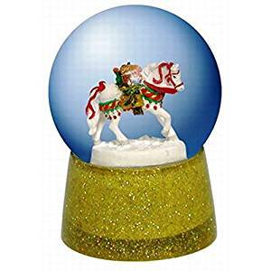 Trail of Painted Ponies Polar Express 45MM Water Globe, Retired