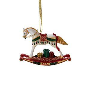 Trail of Painted Ponies Noel Rocking Horse Pony Hanging Ornament in a Tin