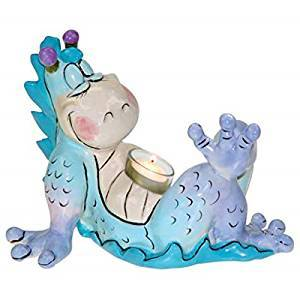 Fire in the Belly Dragon Tealight Holder- Heather Goldminc for Westland Giftware