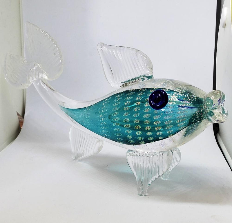 Alex Radetski Glass Fish Figurine, Handcrafted in Canada