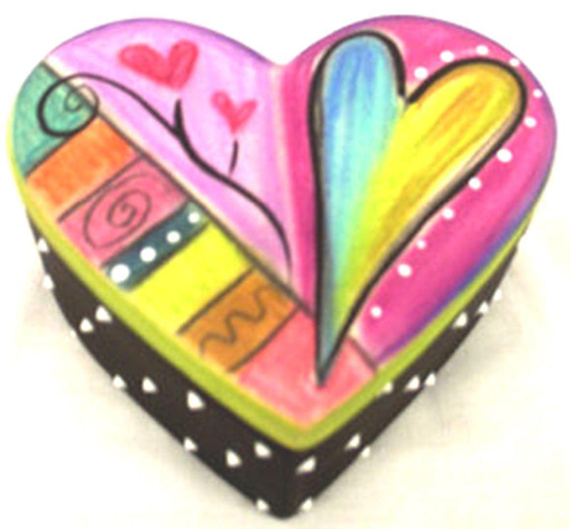 Double Creek Pottery Handcrafted Heart Shaped Box