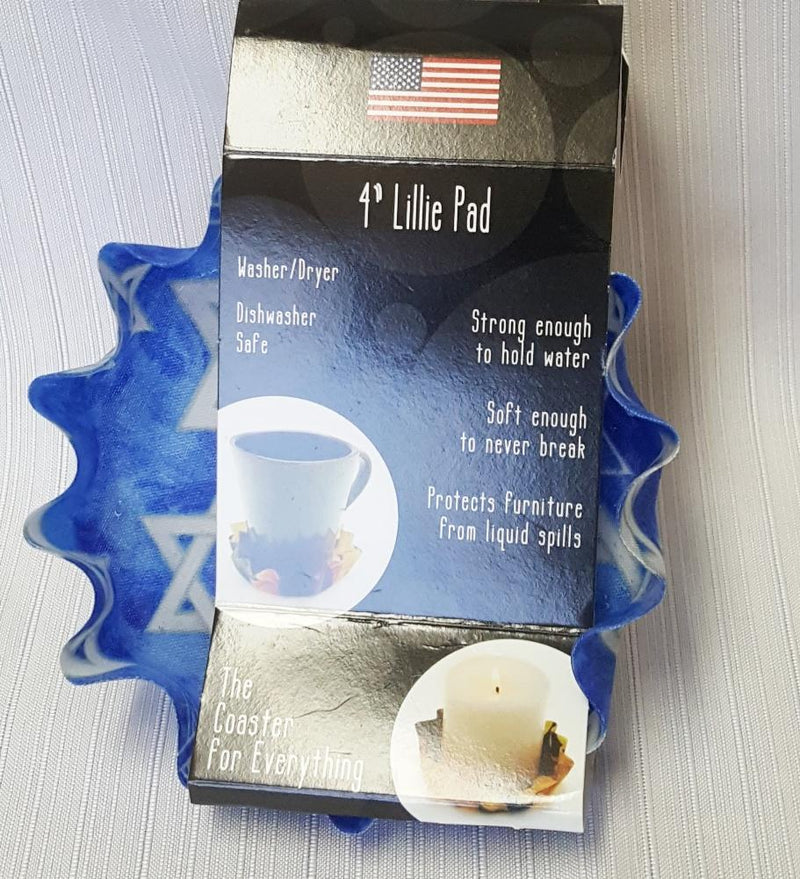 Andreas Silicone Lillie Pad, Star of David, Made in the USA