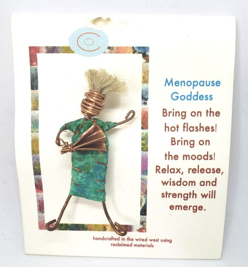 Christine Olmsted Design Menopause Goddes Handmade Woman Pin