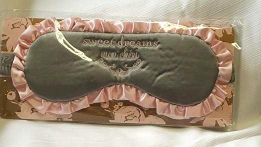 Bella Il Fiore Goodnight Gorgeous Sleep Mask Grey, Sweet Dreams Mon Chéri