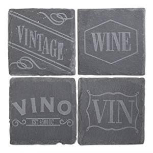 TAG Vino Slate Coaster Set