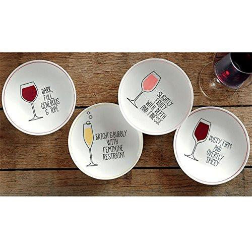 TAG Wine Plates Set of 4