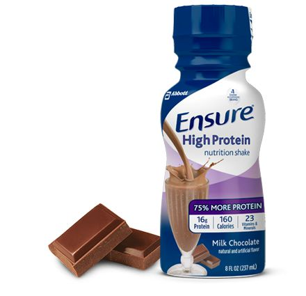 Ensure High Protein Nutritional Shake, Chocolate, 8 fl oz, CS/24