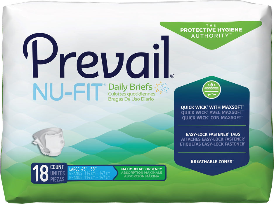 Prevail NuFit, Pañal Absorbente