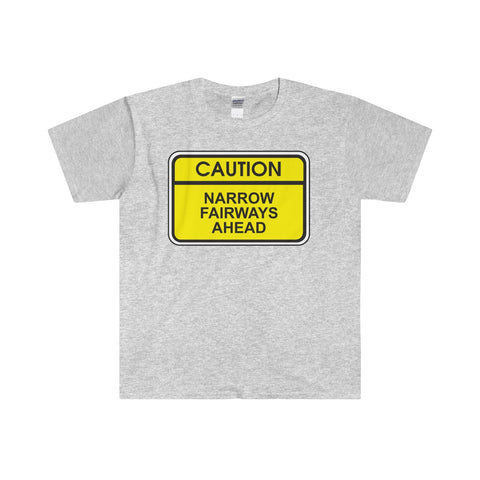 """CAUTION"" Softstyle® Adult T-Shirt"