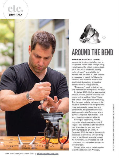 More Than Just Spoon Rings & Fork Bracelets: Bethesda Magazine Article