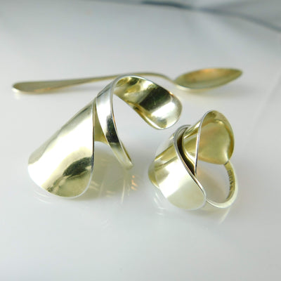 Spoon Ring Silhouettes: Shapes & Styles of Silver Spoon Rings made from Vintage Flatware