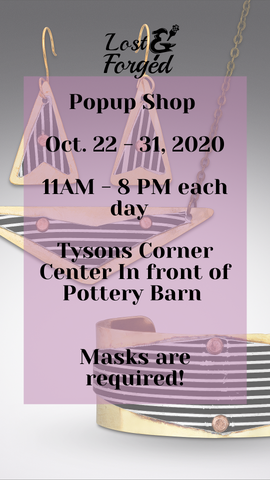 Tysons Corner Popup Shop, Oct 22nd-31st, 2020