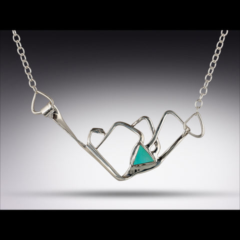 Mountain Range Silver Fork Necklace