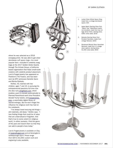 Spoon Rings, Fork Bracelets & more - Lost & Forged in Bethesda Magazine