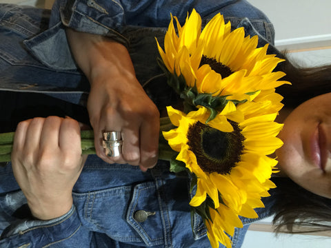 Meadow Flower Whole Spoon Ring, worn by Jennifer from Cute Teachings blog