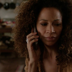 "Sherri Saum (aka Lena Adams Foster) wore a silver whole spoon ring by Lost & Forged on Freeform's ""The Fosters"", Season 4, Episode 17"