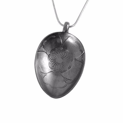 Cherry Blossom Floral Medallion Pendant from Nagasaki