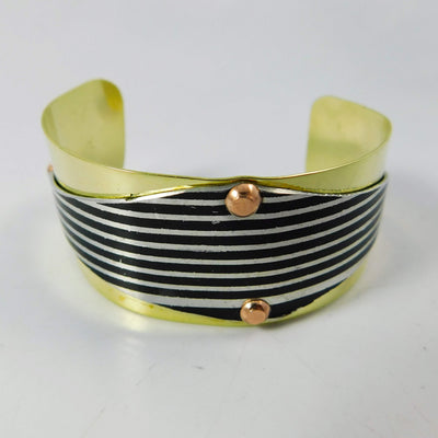Jewelry Harley Motorcycle Fender Cuff Bracelet, on Brass