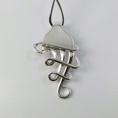 Jewelry Melodia Silver Fork Pendant Necklace