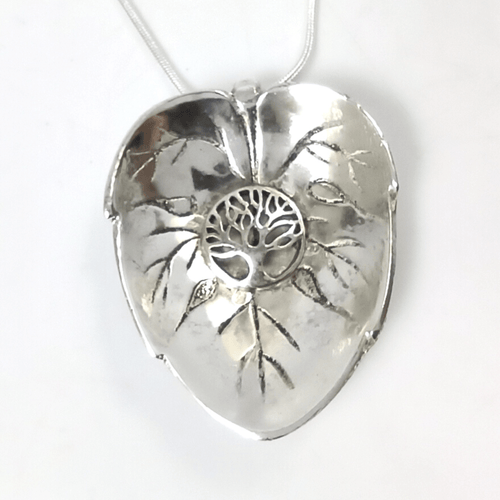 Jewelry Tree of Life Silver Leaf Pendant Necklace