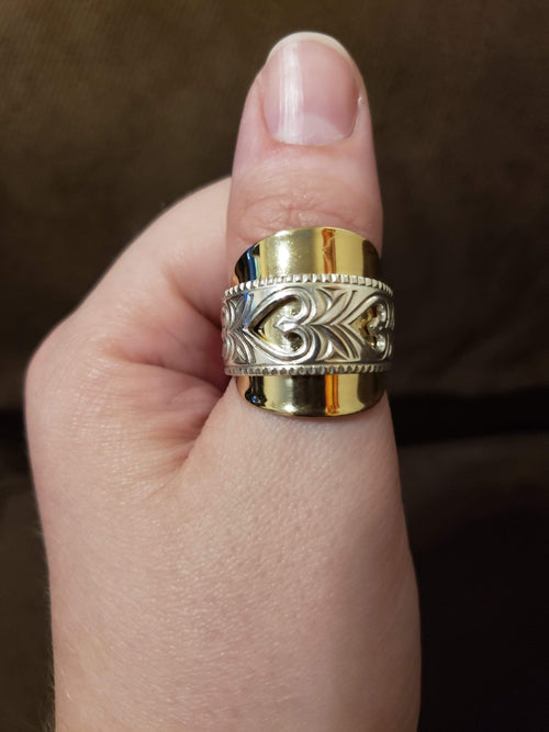 Norway Hearts Two-Tone Whole Spoon Ring