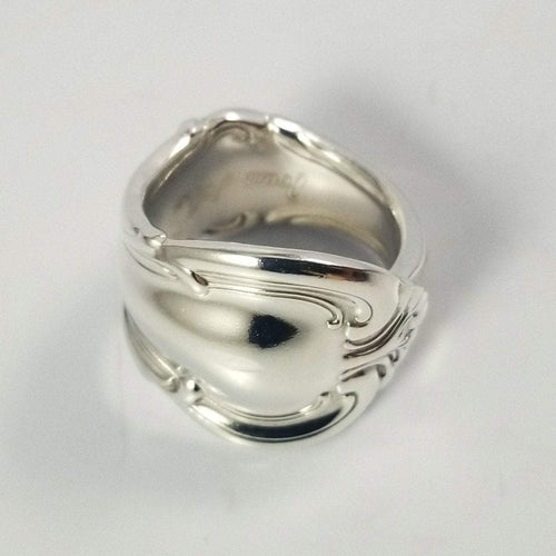 spoon ring Antique Shell Classic Band Sterling Silver Spoon Ring