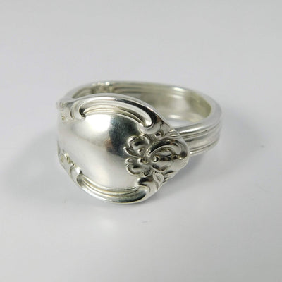 spoon ring Bowknot Flourish Classic Band Sterling Silver Spoon Ring