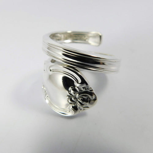 spoon ring Bowknot Flourish Spiral Twist Sterling Silver Spoon Ring