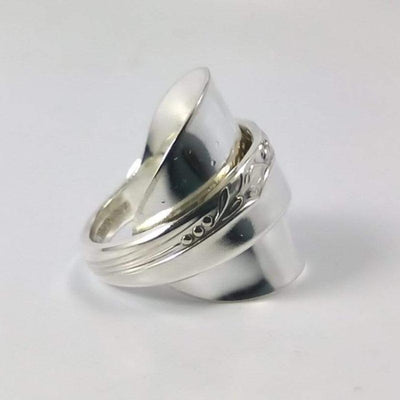 spoon ring Brittany Rose Silver Demitasse Whole Spoon Ring