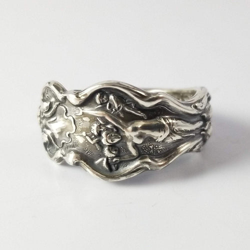 spoon ring Goddess Nouveau Sterling Silver Classic Band Spoon Ring