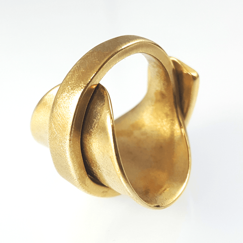 spoon ring Gold Elegance Bronze Spoon Ring