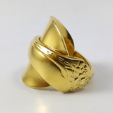 Gold Spoon Rings, Two-Tone Spoon Rings