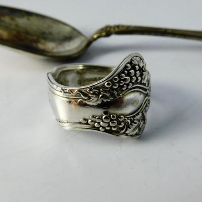spoon ring Grape Cluster Silver Spoon Ring