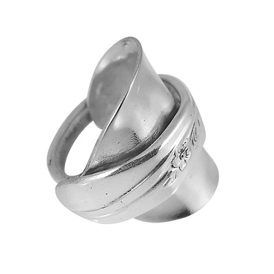 Rose spoon ring