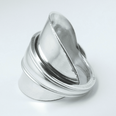 spoon ring Mohawk Monroe Silver Saddle-Shape Whole Spoon Ring
