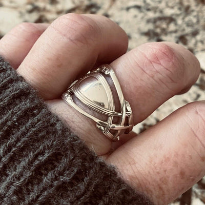 spoon ring Monticello Pierced Sterling Silver Spoon Ring