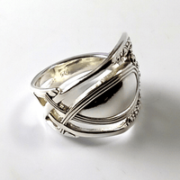 Lattice Nouveau Sterling Silver Spoon Ring