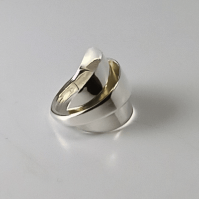 spoon ring Pointed Elegance Sterling Silver Whole Demitasse Spoon Ring