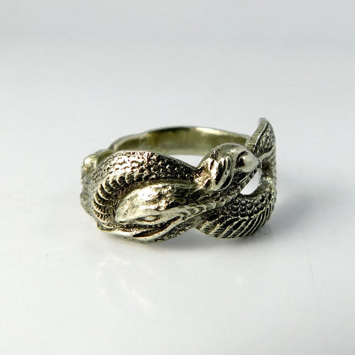 spoon ring Silver Serpent Asian Zodiac Spoon Ring