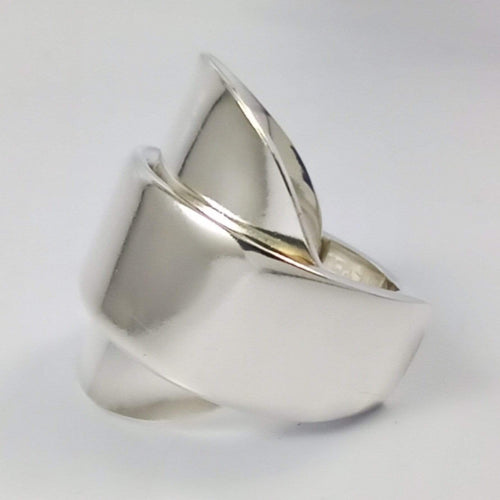 spoon ring Sleek Elegance Silver Whole Spoon Ring
