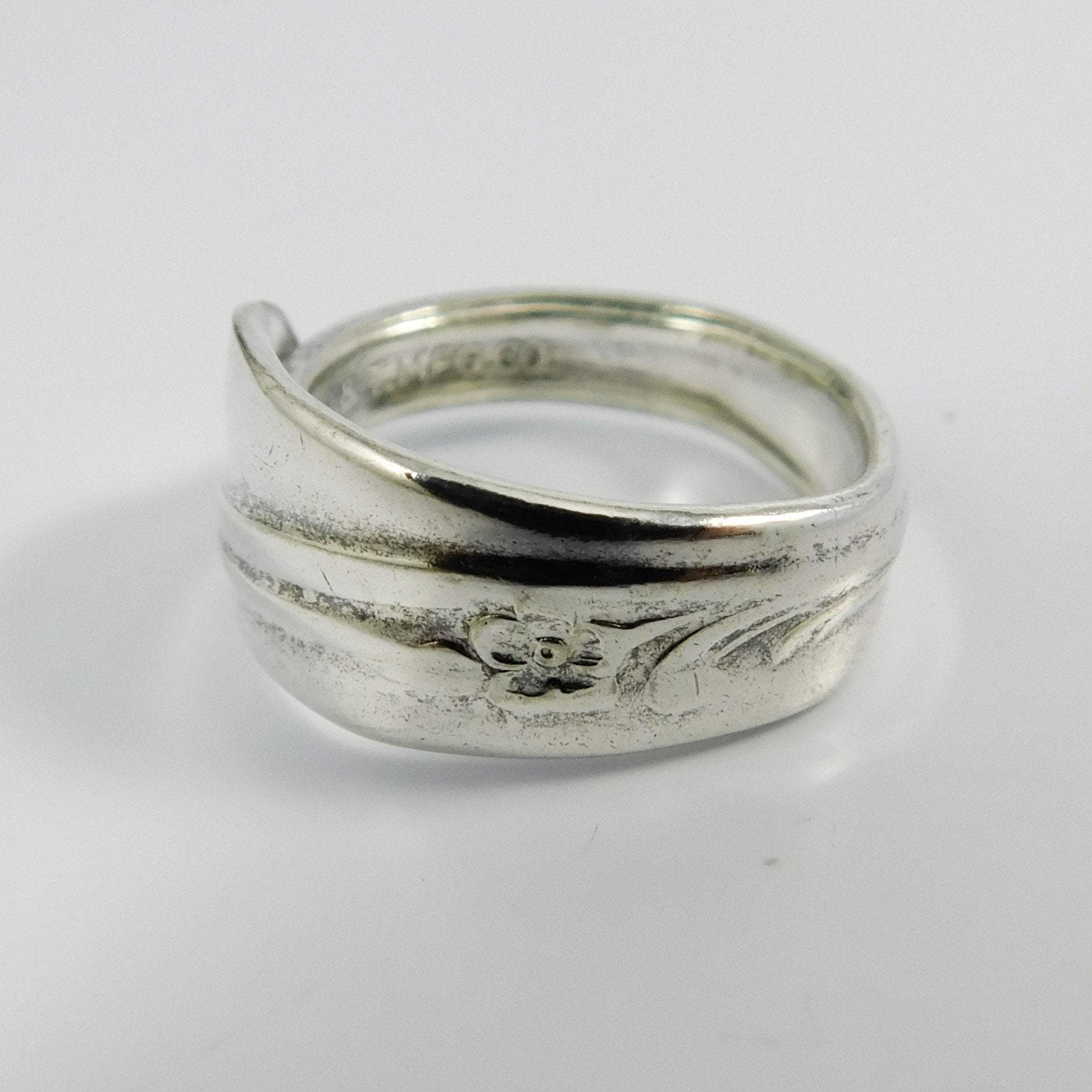 spoon ring Wildflower Classic Band Silver Spoon Ring