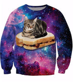3D Sweatshirts - 3D Cat Sweatshirts