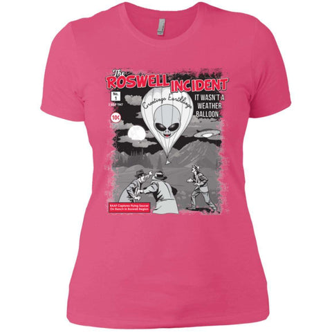 """The Roswell Incident July 1947"" Ladies' Premium Short Sleeve T-Shirt"
